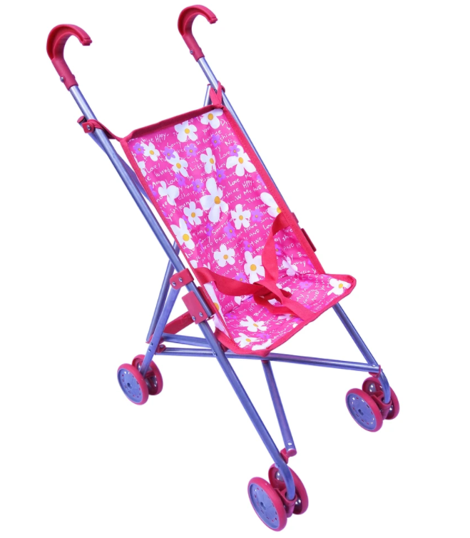 Playworld umbrella doll stroller pink