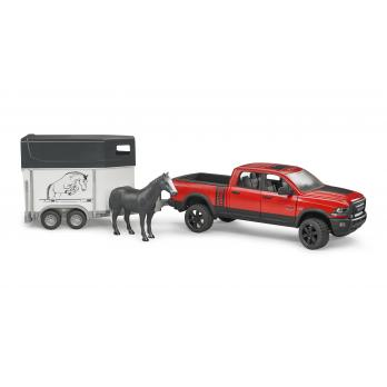 Bruder 025011:16 RAM Ute with Horse & Trailer