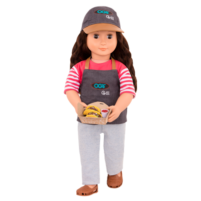 Our Generation Rayna Food Truck Doll With Book