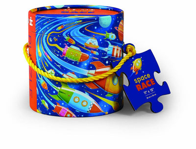 Crocodile Creek Space Race 24pc Can Puzzle