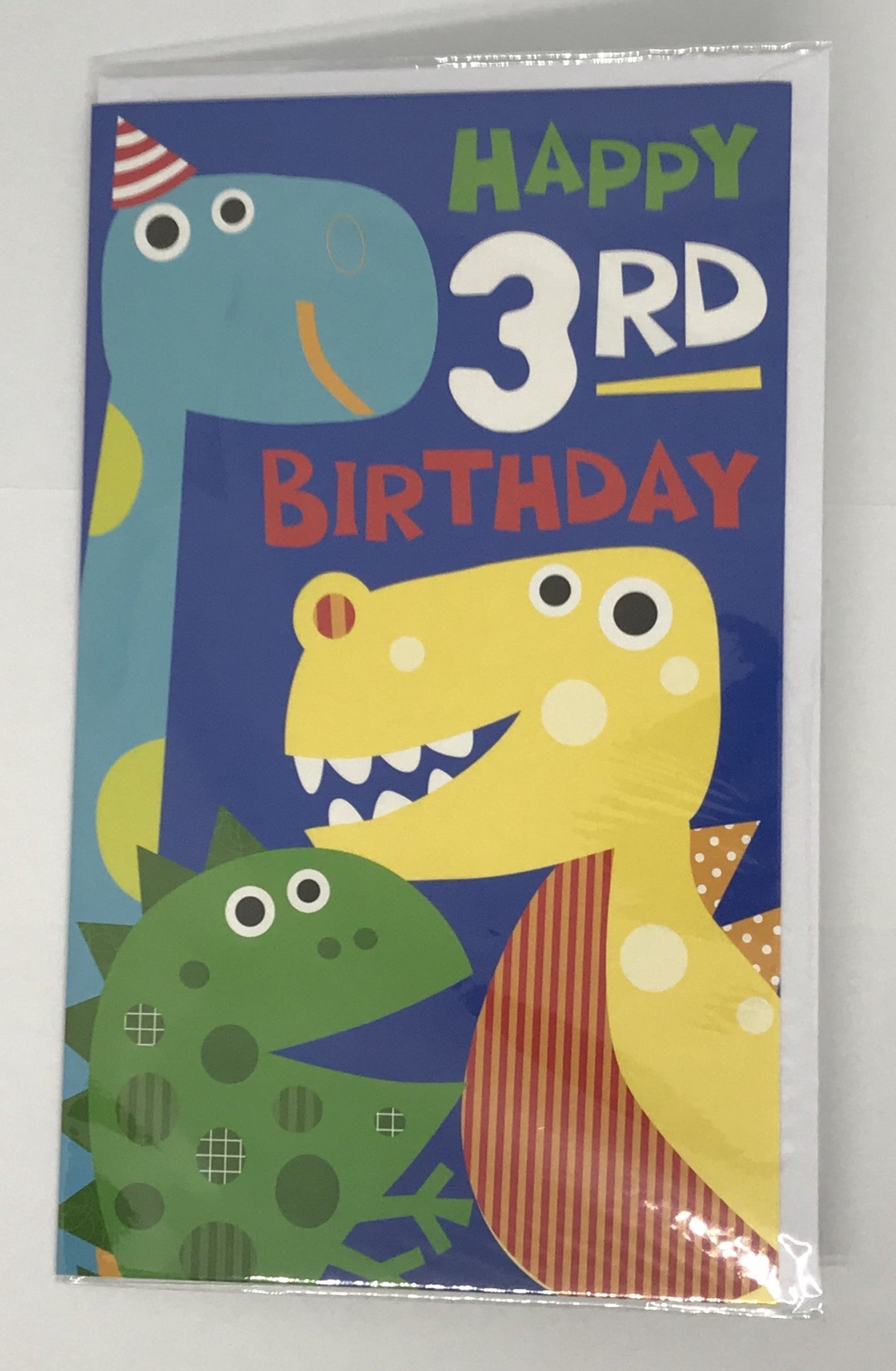 Card Age 3 Boy Dinosaur Birthday