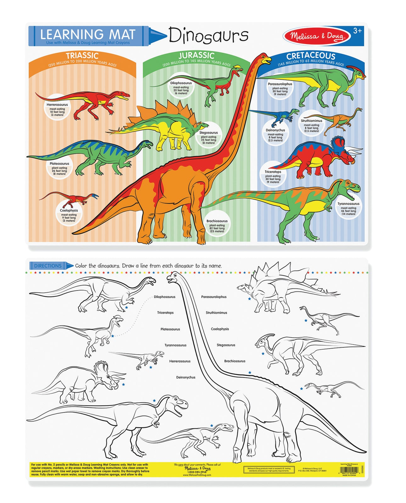 M&D Learning Mat Dinosaurs