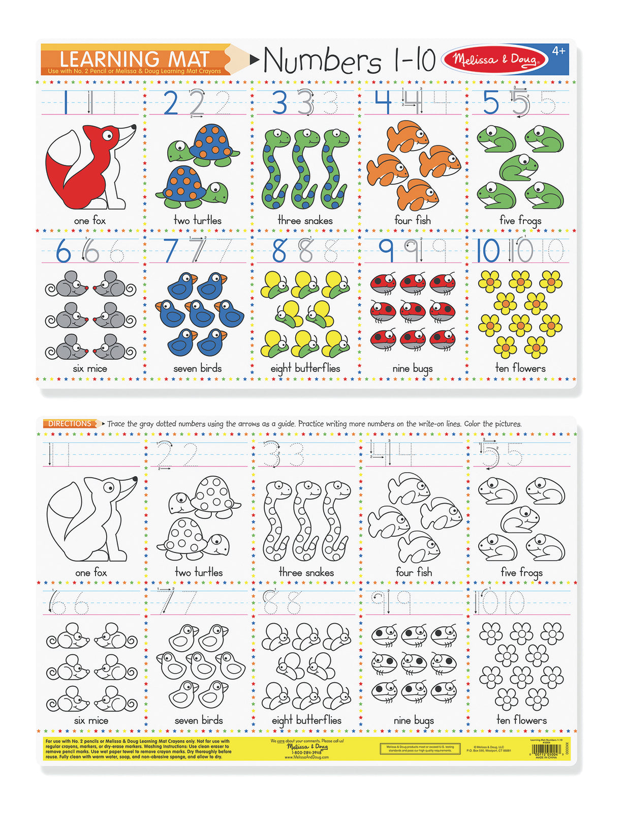 M&D Learning Mat Numbers 1-10