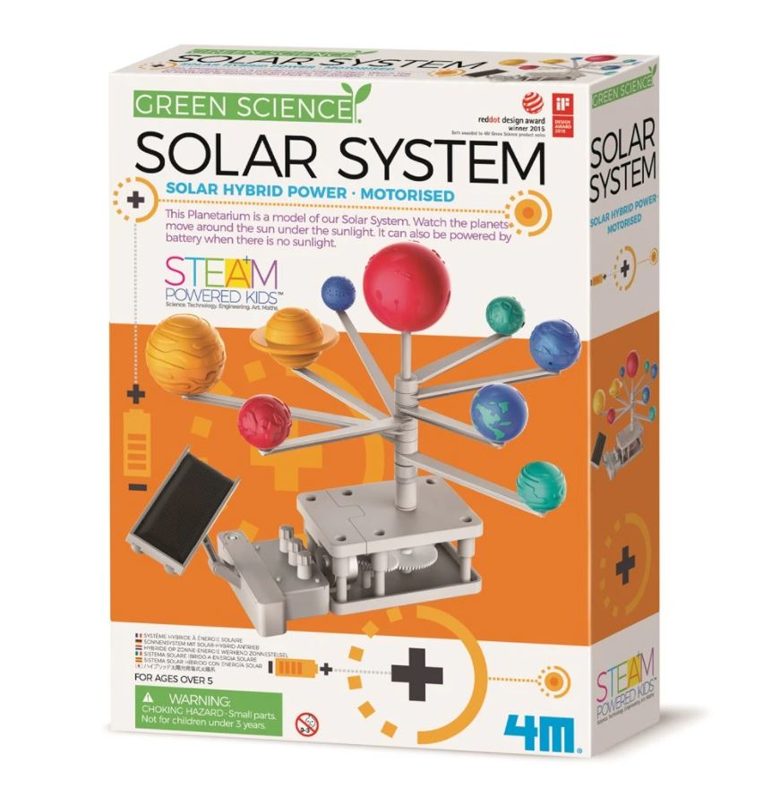4m Green Science Solar System requires 1 x AAA battery