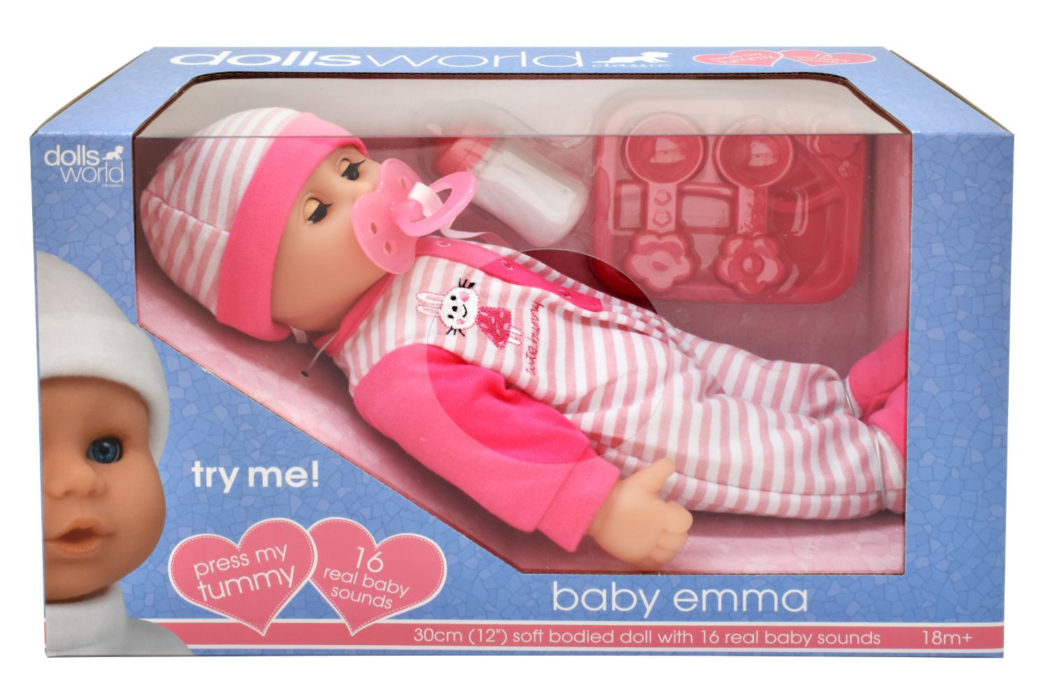 Dolls World Baby Emma Doll With Sounds