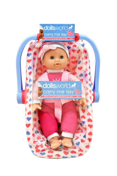 Dolls World Car Seat Carry Me Issy 30cm