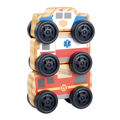 Playgo Wooden Toys Stacking Wheels