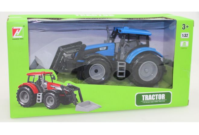 1:32 Farm Tractor with Scoop Asstd