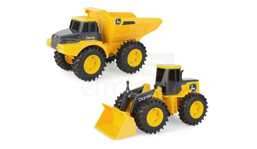 John Deere 28cm Construction Vehicle Asstd