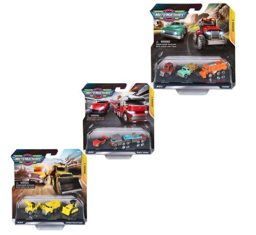 Micro Machines Multipack Starter Pack 3pk Assorted