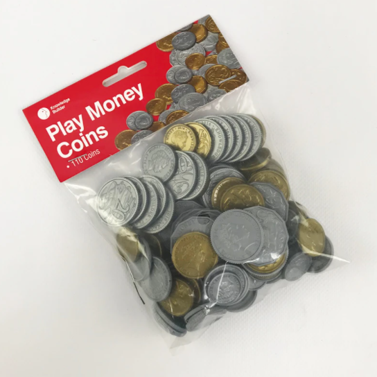 Play Money Coins ( Australian Currency ) - 110 coins