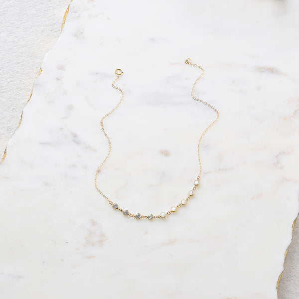 Rhinestone Choker 14K Gold Fill / Sterling Silver / Rose Gold Fill