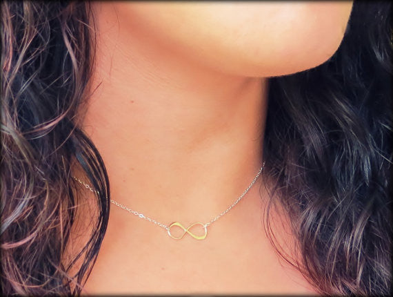 Infinity Link Necklace / Silver / Gold /