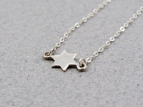 Star of David Necklace / Sterling Silver /