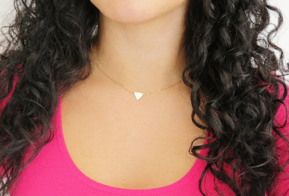 Pennant Necklace / Silver / Gold / Rose Gold /