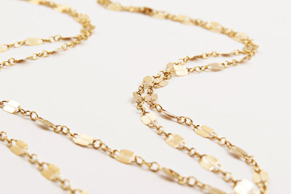 Extra Long Layering Chain / 14k Gold Fill / Sterling Silver /