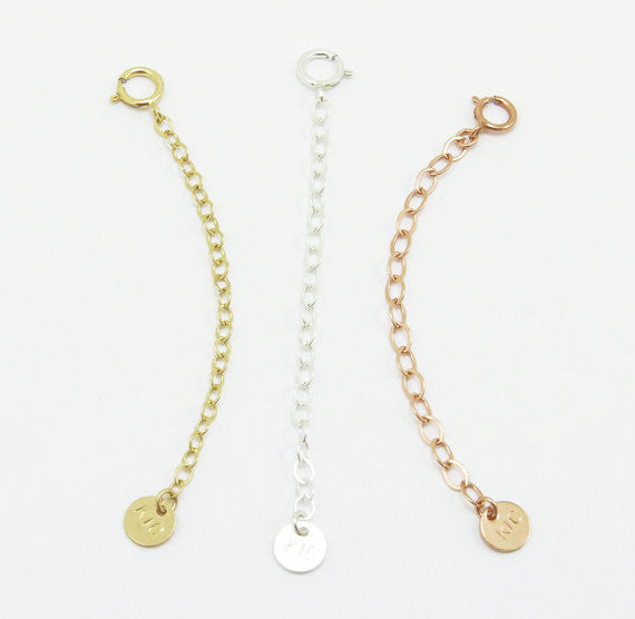 Extender Chain for Necklace or Bracelet / Gold / Silver / Rose Gold /