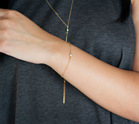 Solitaire Bracelet / Silver / Gold / Rose Gold /
