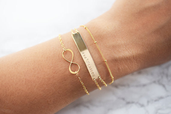 Large Bar Bracelet / Gold / Silver / Rose Gold /