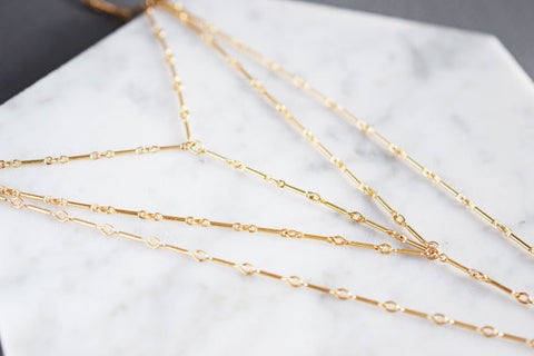 Harness Chain Necklace / Silver / Gold /