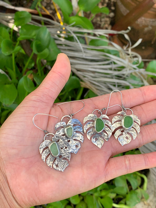Making Monstera Leaf Earrings