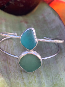 Sea Glass Open Bangles