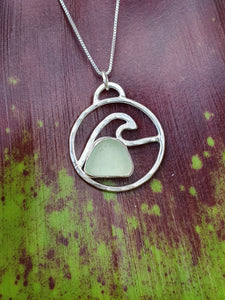Nåpu Necklace with Sea Glass