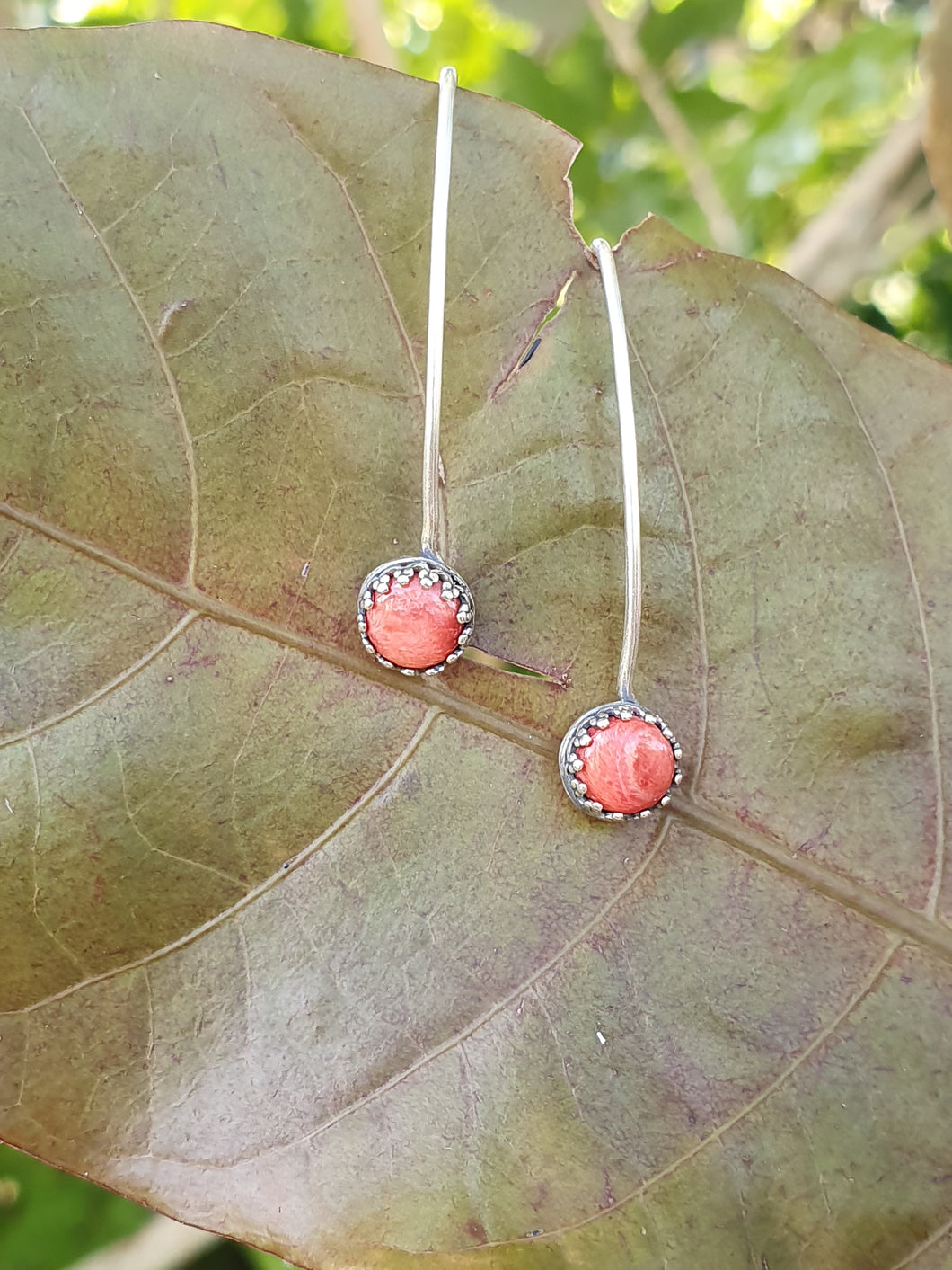 Spondylus Wire Threader Earrings
