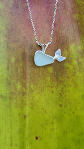 Sea Glass Whale Necklace