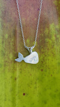 Load image into Gallery viewer, Sea Glass Whale Necklace
