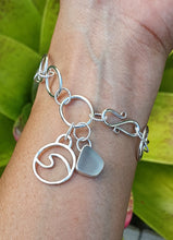 Load image into Gallery viewer, Chunky Chain Seaglass Bracelet