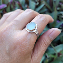 Load image into Gallery viewer, Gold Sea Glass Ring on Double Band