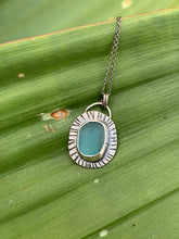 Load image into Gallery viewer, Sea Glass Sunburst Necklaces