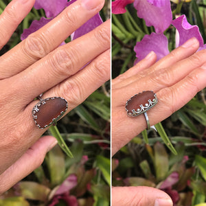 Silver Rings with Decorative Border