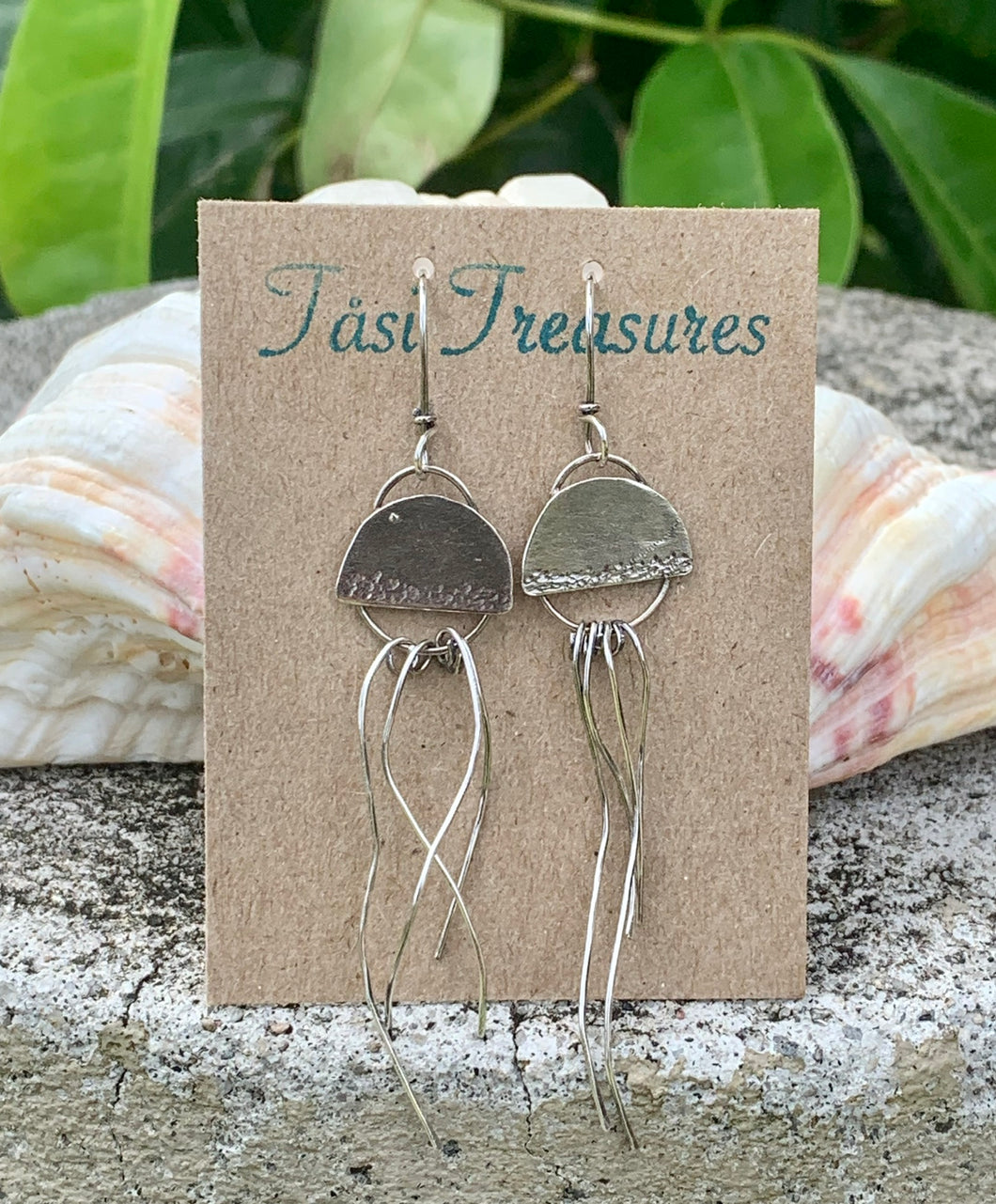 Silver Jellyfish Earrings