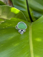 Load image into Gallery viewer, Green Sea Glass Jellyfish Ring