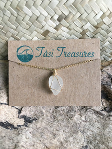 Gold Wire Wrapped Sea Glass Anklets