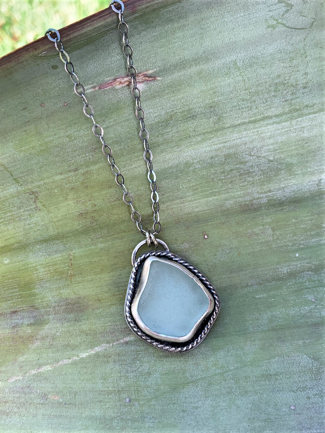 Seafoam Sea Glass Necklace