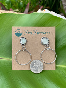 Sea Foam Sea Glass Stud & Hoops