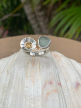 Load image into Gallery viewer, Sea Glass and Citrine Ring