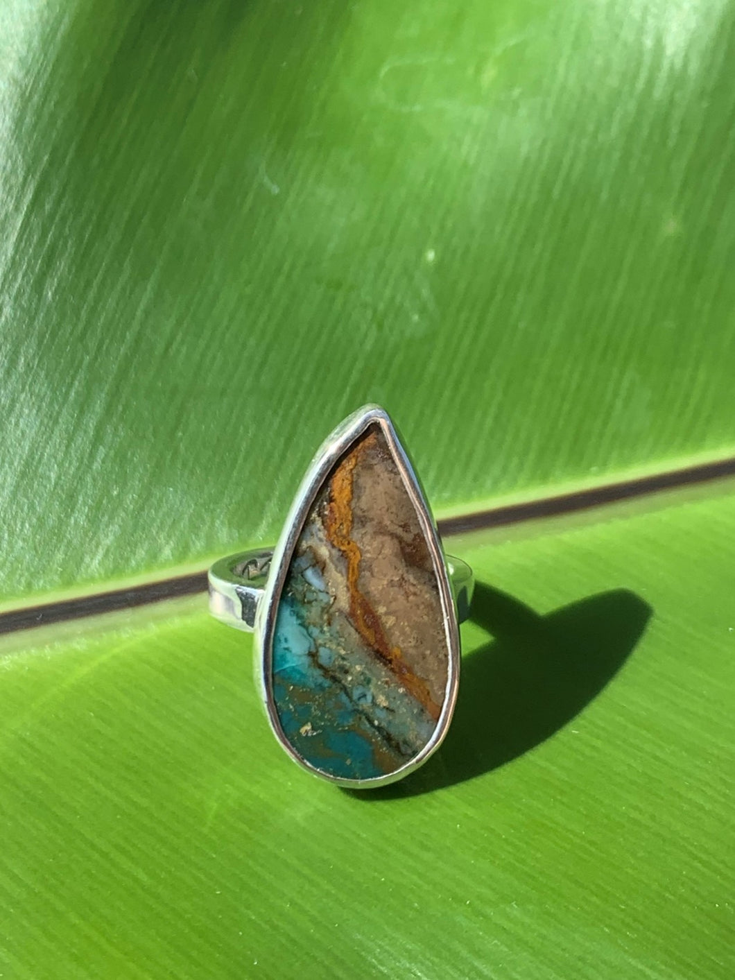 Beachscape Wood Opal Statement Ring