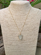 Load image into Gallery viewer, Gold Wire Wrapped White Sea Glass Necklace