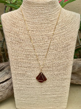 이미지를 갤러리 뷰어에 로드 , Gold Wire Wrapped Brown Sea Glass Necklaces