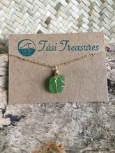 Load image into Gallery viewer, Gold Wire Wrapped Sea Glass Anklets