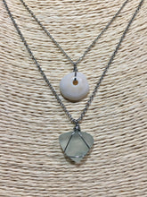 Load image into Gallery viewer, Puka and sea glass layered necklace