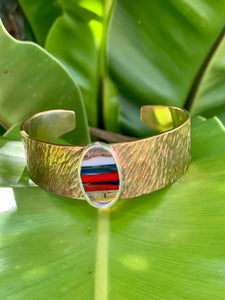 Brass Statement Cuff with Surfite