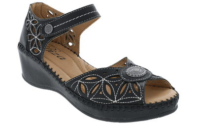 Brooklyn -  Women's Leather Sandals with Arch Support- Biza Shoes