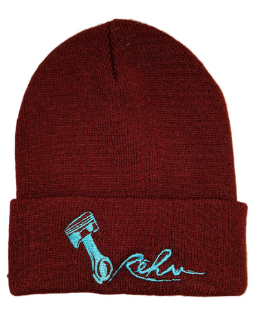 Rehv Adult Beanie Maroon With Mint Design