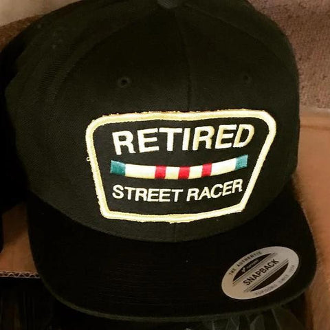 Retired Street Racer Black Snapback