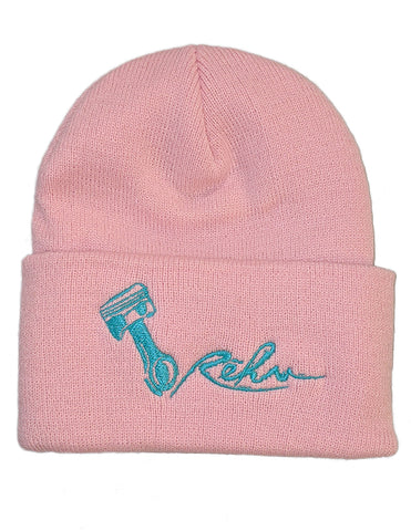 Rehv Adult Beanie Pink With Mint Green Design